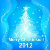 Fundo de roseta feliz natal 2012 — Vetorial Stock