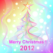 Merry Christmas 2012 background — Stock Vector
