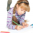 Girl drawing — Stockfoto