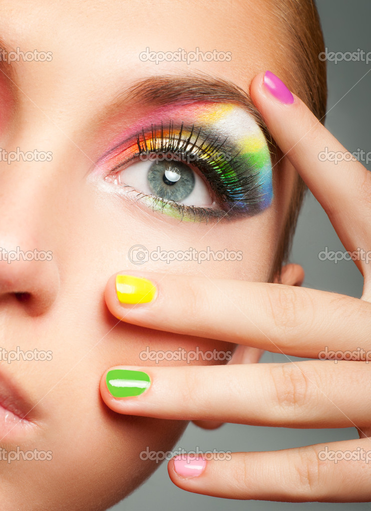 Bright makeup  Stock Photo #7524075