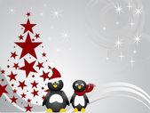企鹅圣诞 — 图库矢量图片