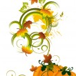 Autumn pumpkin — Stock Vector #7245942