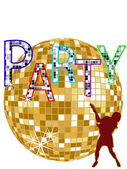 Party - disco — Stock Vector