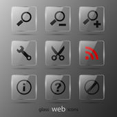 Glass web icons. — Stock Vector