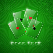 Glas poker Ace 's. — Stockvector