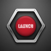 Launch button. — Stock Vector