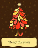 Abstract christmas tree. Vector — Stock Vector