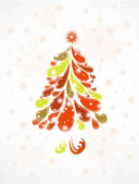 Abstract christmas tree. Vector background — Stock Vector
