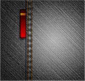 Textura jeans negros. vector — Vector de stock