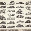 Collection of old cars. Vector set 2 — Stock Vector #7234460