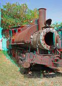 Old-time locomotive. — Stock Photo