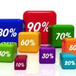 Different percentages in color 2 - Stock Photo
