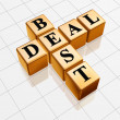 Stock Photo: Golden best deal like crossword