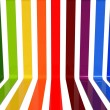 3d rainbow lines — Stock Photo