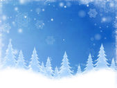 White christmas trees in blue — Stock Photo