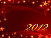 2012 with gold stars — Stock Photo