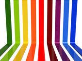 3d rainbow lines — Stock Photo