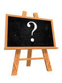 Blackboard with question sign — Stock Photo