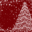 Christmas tree red — Stock Photo