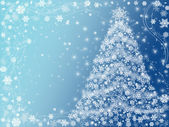 Christmas tree blue — Stock Photo