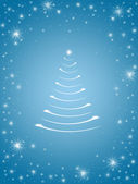 Christmas tree in blue 3 — Stock Photo