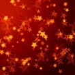 Golden red stars background — Stock Photo