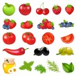 Vetorial Stock : Fruits And Vegetables