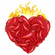 Royalty-Free Stock Vector Image: Heart From Pepper