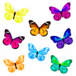 Butterfly Icon Set — Stock Vector