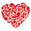 Chili Pepper Heart — Stock Vector #6864359