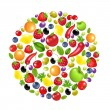 Royalty-Free Stock Vector Image: Circle From Vegetables And Fruit