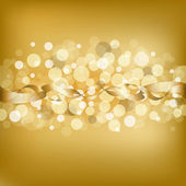 Gold Background With Ribbon — Cтоковый вектор