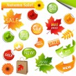 Autumn Collection Sale Elements — Stock Vector