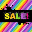 Colorful Sale Poster — Stock Vector