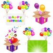 Birthday Set — Stock Vector #7446308