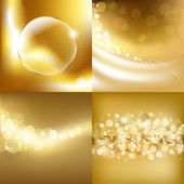 Gold Backgrounds Set — Stock Vector