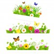 Stock Vector: Spring Flower Bouquet