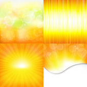 Orange And Yellow Backgrounds — Stock Vector
