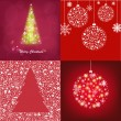 Abstract Christmas Cards Set — Stock Vector