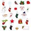 Christmas Icons Set - Stock Vector