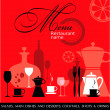Red Restaurant menu vector — Image vectorielle