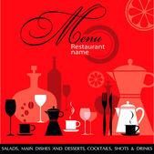 Red Restaurant menu vector — Stock Vector