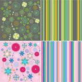 Background vector flowers — Stock Vector