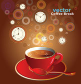 Vector illustration of coffee pause — Stock Vector