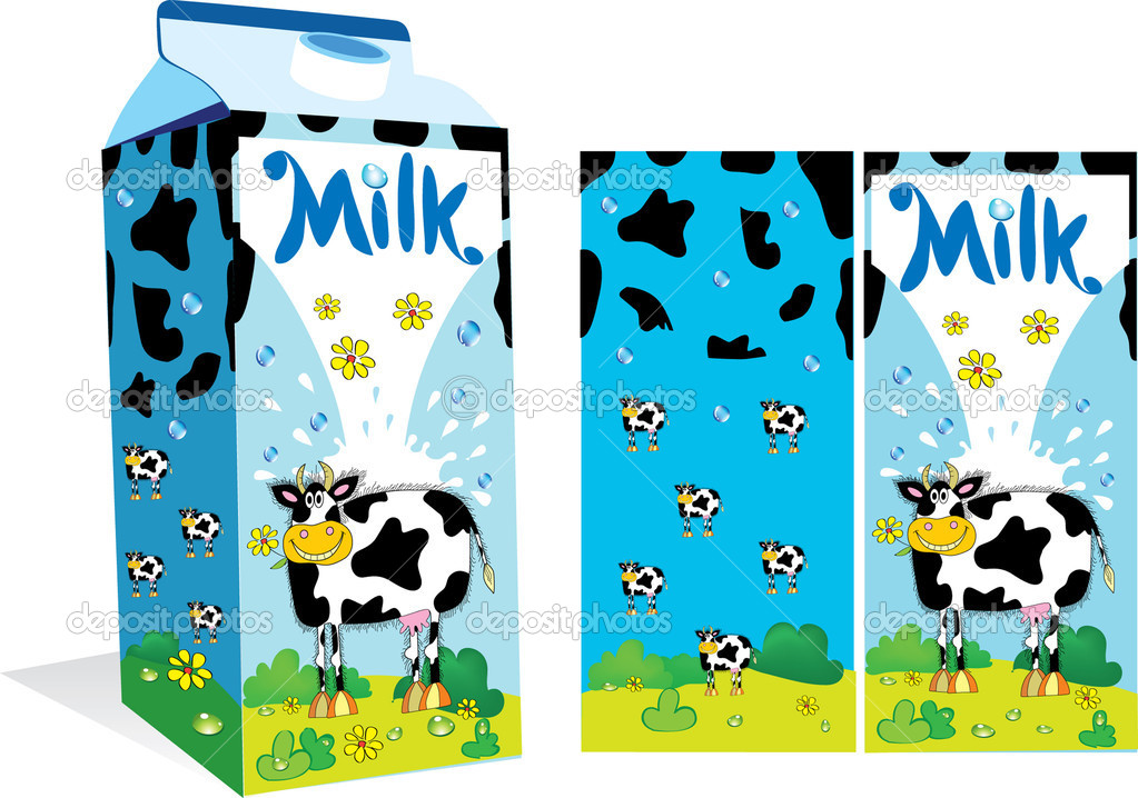 Milk Cow Vector Vector Package For Milk With a