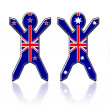 Stock Photo: Flag guys - New Zealand and Australia