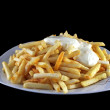 Stock Photo: French fries with Mayonnaise