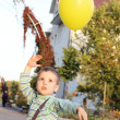 Little Boy Playing with Balloon — Stock Photo