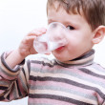 Little Child Boy Drinking Pure Water — Stock Photo