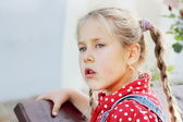Young Girl with Staring Sight — Stock Photo